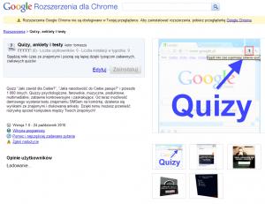 Quizy Google Chrome