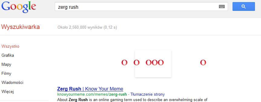 Ilustracja Zerg Rush w Google – o co chodzi? - Polishwords News