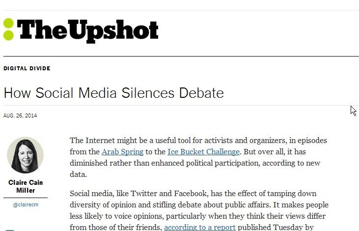 Ilustracja Social media powodują spiralę milczenia - Polishwords News