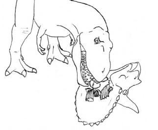 Ilustracja Jedzenie Triceratopsa w 4 krokach [+18] + 7 ciekawostek o dinozaurach - Polishwords News